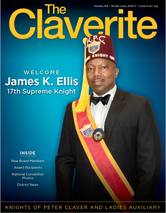 Knights of Peter Claver Magazine Winter 2016 Issue